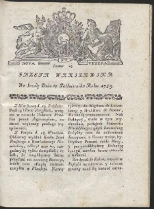 Gazeta Warszawska. R.1785 Nr 84