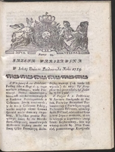 Gazeta Warszawska. R.1785 Nr 85