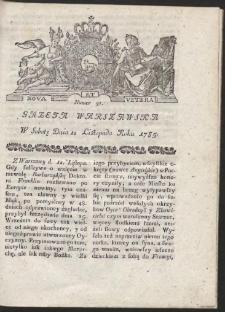 Gazeta Warszawska. R.1785 Nr 91