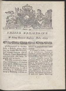 Gazeta Warszawska. R.1785 Nr 99