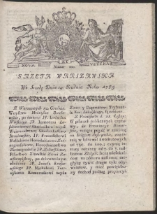 Gazeta Warszawska. R.1785 Nr 100