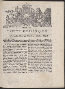 Gazeta Warszawska. R.1785 Nr 105
