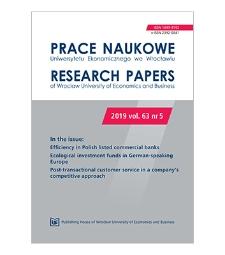 Spis treści [Prace Naukowe Uniwersytetu Ekonomicznego we Wrocławiu = Research Papers of Wrocław University of Economics; 2019; vol. 63, nr 5]