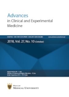 Advances in Clinical and Experimental Medicine, Vol. 27, 2018, nr 10