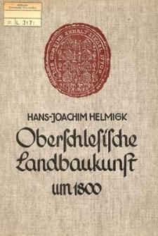Oberschlesische Landbaukunst um 1800