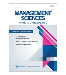 Spis treści [Management Sciences = Nauki o Zarządzaniu, 2019, vol. 24, no. 3]
