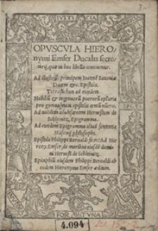 Opuscula Hieronymi Emser [...]