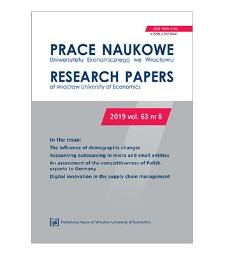 Spis treści [Prace Naukowe Uniwersytetu Ekonomicznego we Wrocławiu = Research Papers of Wrocław University of Economics; 2019; vol. 63, nr 8]