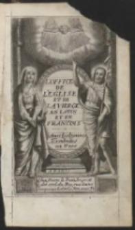 L'Office De L'Eglise En Latin & en François … Avec une instruction pour les Fidelles…Ed.28
