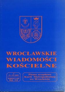 Wrocławskie Wiadomości Kościelne. R. 52 (1999), nr 2