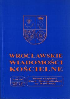Wrocławskie Wiadomości Kościelne. R. 52 (1999), nr 4