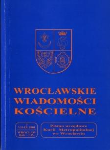 Wrocławskie Wiadomości Kościelne. R. 54 (2001), nr 3