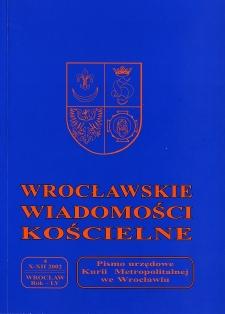 Wrocławskie Wiadomości Kościelne. R. 55 (2002), nr 4