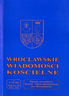 Wrocławskie Wiadomości Kościelne. R. 56 (2003), nr 4