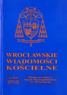Wrocławskie Wiadomości Kościelne. R. 58 (2005), nr 2