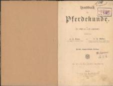 Handbuch der Pferdekunde : für Offiziere und Landwirte. - 4., umgearb. Aufl.