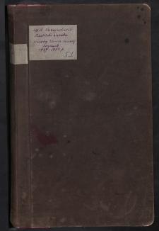 Księga kasowa majątku Bouszów