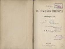 Lehrbuch der allgemeinen Therapie der Haussaeugetiere. 2 Theil