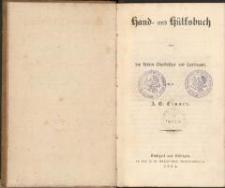 Hand- und Hülfsbuch für den kleinen Gutsbesitzer und Landmann