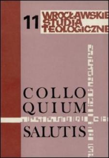 Colloquium Salutis : wrocławskie studia teologiczne. 11 (1979)