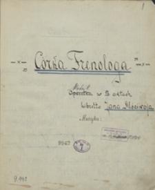Córka frenologa. Operetka w 3 aktach, libretto [Jadwigi Pajon de Moncets] Jana Mściwoja, [pseud.]