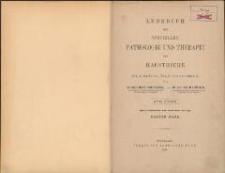 Lehrbuch der speciellen Pathologie und Therapie der Hausthiere : für Tierärzte, Ärzte und Studierende. Bd 1. - 4., verb. u. verm. Aufl.