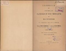 Lehrbuch der speciellen Pathologie und Therapie der Hausthiere : für Tierärzte, Ärzte und Studierende. Bd 2. - 3., verb. u. verm. Aufl.