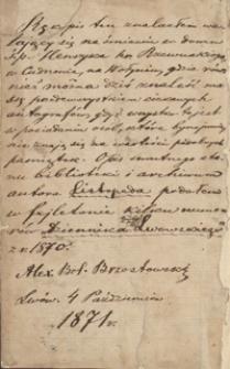 Zbiór różnych rzeczy napisany przez jm pana Józefa Zaranka podsędkowicza witebskiego r. 1769 d. 11 Octobris w Wilnie w konwikcie