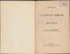 Lehrbuch der allgemeinen Therapie für Thierärzte