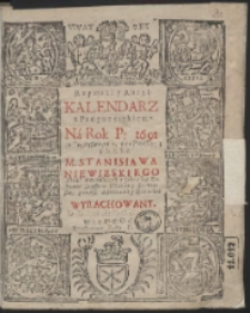 Rzymski y Ruski Kalendarz z Prognostykiem Ná Rok P: 1691 […]