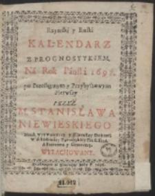 Rzymski y Ruski Kalendarz Z Prognostykiem. Ná Rok Pánski 1697 […]