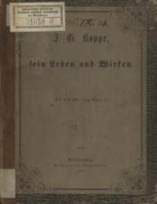 J. G. Koppe, sein Leben und Wirken
