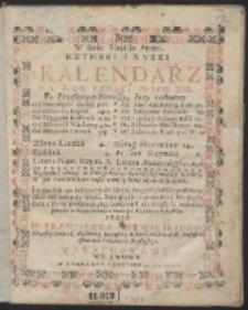 Rzymski I Ruski Kalendarz Na Rok Panski, M. DCC. XIII. […]