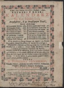 Rzymski Y Ruski Kalendarz Ná Rok Pański, 1715. […]