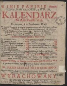 Kalendarz Ná Rok Pański 1718. […]