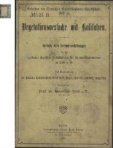 Vegetationsversuche mit Kalisalzen : Berichte über Versuchsanstellungen an der agrikultur-chemischen Versuchsstation der Landwirtschaftskammer zu Halle a. S.