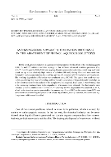 Assessing some advanced oxidation processes in the abatement of phenol aqueous solutions