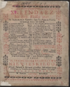 Kalendarz Ná Rok Páński 1727. […]