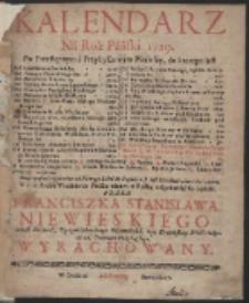 Kalendarz Ná Rok Páński 1729. […]