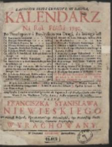 Kalendarz Ná Rok Páński 1730. […]