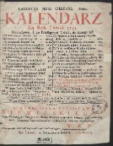 Kalendarz Ná Rok Páński 1731. […]