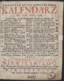 Kalendarz Ná Rok Páński 1734. […]