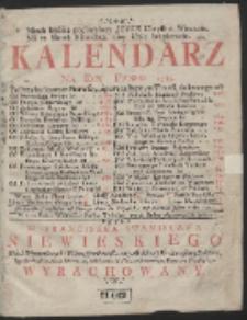 Kalendarz Na Rok Panski 1735. […]