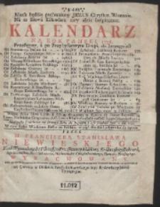 Kalendarz Na Rok Panski 1736. […]