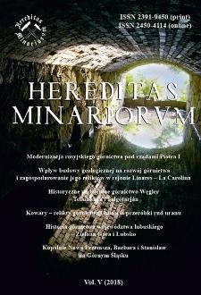Spis treści [Hereditas Minariorum, Vol. V, 2018]