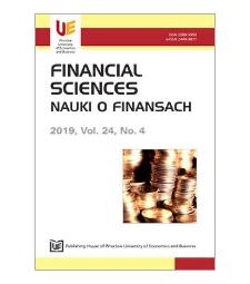 Spis treści [Financial Sciences = Nauki o Finansach, 2019, vol. 24, no. 4]