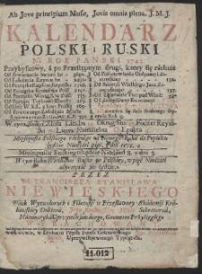 Kalendarz Polski i Ruski Ná Rok Panski 1742. […]