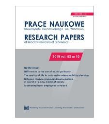 Spis treści [Prace Naukowe Uniwersytetu Ekonomicznego we Wrocławiu = Research Papers of Wrocław University of Economics; 2019; vol. 63, nr 10]