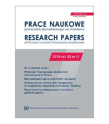 Spis treści [Prace Naukowe Uniwersytetu Ekonomicznego we Wrocławiu = Research Papers of Wrocław University of Economics; 2019; vol. 63, nr 11]