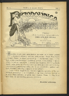 Przodownica : pismo dla kobiet wiejskich. R. 1, 1900, nr 9